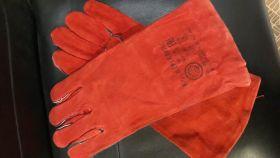 Перчатки сварочные краги красные
