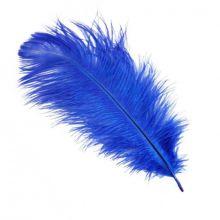 Перо, синий, 14 см/30 шт
