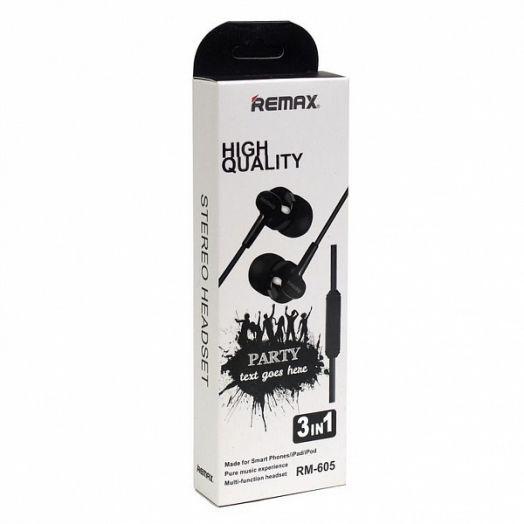 Remax RM-605 наушники вакуум - гарнитура