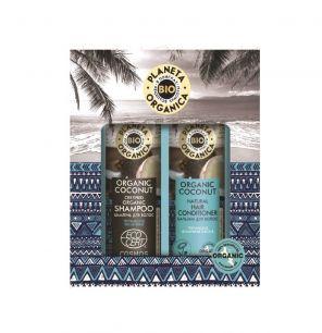 """""""PO"""" Organic coconut Подарочный набор """"Тропическое увлажнение и блеск волос"""""""