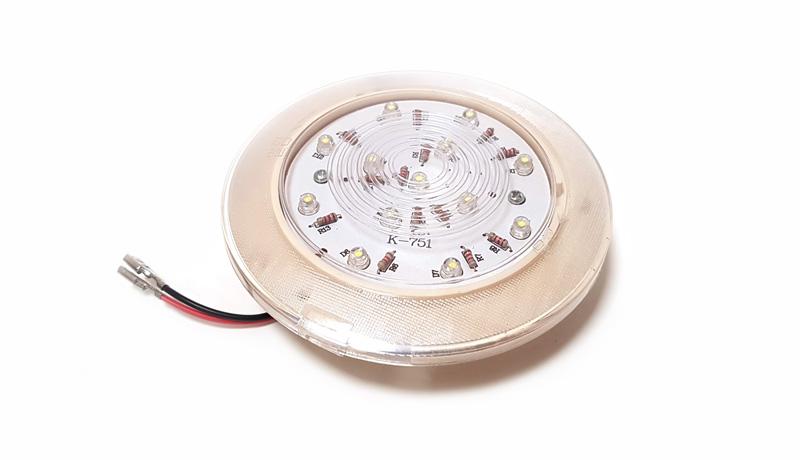 Плафон освещения светодиодный D 80mm 24V (Арт: 50609)