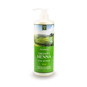 """""""ДП"""" RINSE - GREENTEA HENNA PURE REFRESH  Бальзам для волос с зел. чаем и хной 1000мл"""