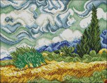 """Феникс. Винсент Ван Гог """"Пшеничное Поле с Кипарисами"""". А-3 (набор 1800 рублей)"""