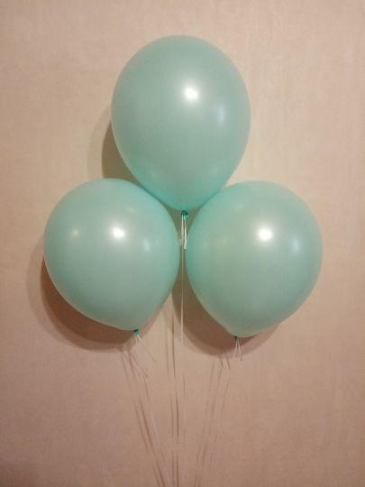Голубой Винтаж шар латексный с гелием