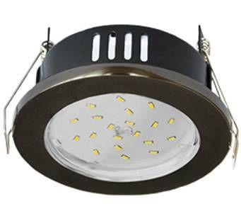 Светильник встраиваемый Ecola GX53-H9 IP65 без рефл. Черный хром 98x55 FB5365ECB