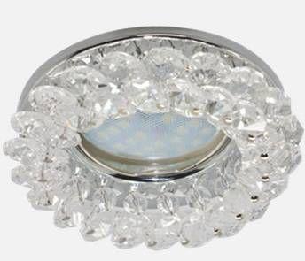 Светильник встраиваемый Ecola CD4141 MR16 GU5.3 круглый с хрусталиками Прозрачный/Хром 50x90 FW1618EFY