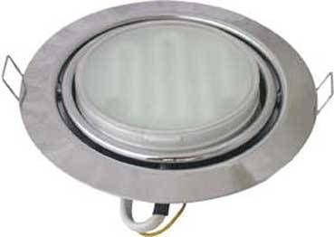 Светильник встраиваемый Ecola GX53-FT9073 поворотный Сатин-хром 40x120 FS5390ECB
