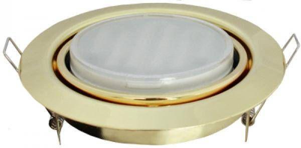 Светильник встраиваемый Ecola GX53-FT9073 поворотный Золото 40x120 FG5390ECB