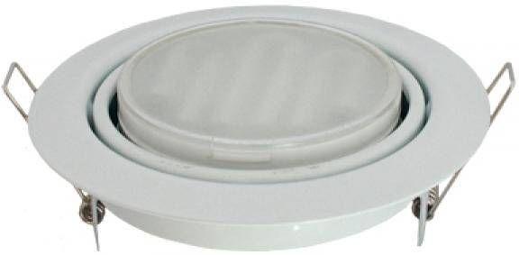Светильник встраиваемый Ecola GX53-FT9073 поворотный Белый 40x120 FW5390ECB