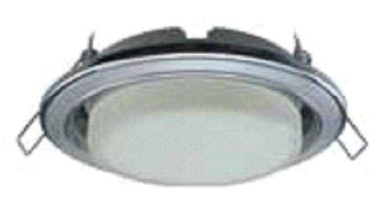 Светильник встраиваемый Ecola GX53-H4 2 цв.Хром-серебро-хром 38x106 FR53H4ECB