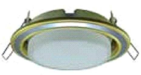Светильник встраиваемый Ecola GX53-H4 2 цв.Золото-хром-золото 38x106 FE53H4ECB