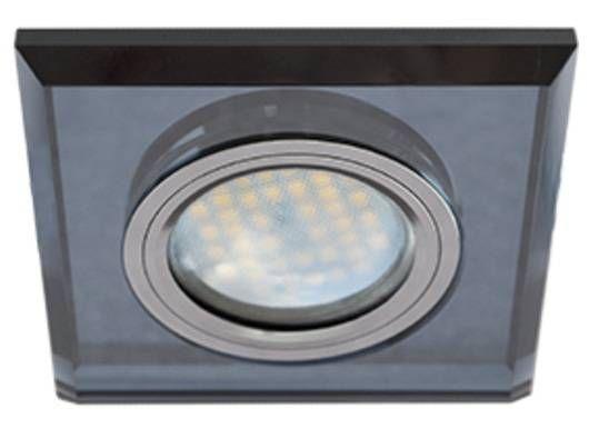 Светильник встраиваемый Ecola DL1651 MR16 GU5.3 квадратный стекло Черный/Черный хром 25x90x90 FB1651EFF