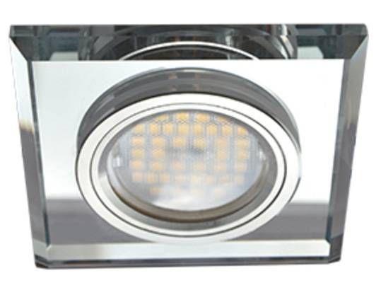 Светильник встраиваемый Ecola DL1651 MR16 GU5.3 квадратный стекло Хром/Хром 25x90x90 FC1651EFF