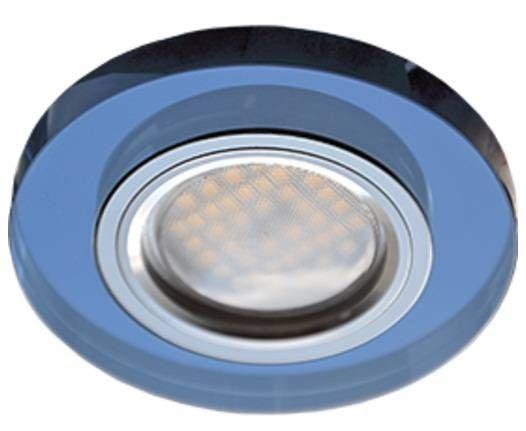 Светильник встраиваемый Ecola DL1650 MR16 GU5.3 круг стекло Голубой/Хром 25x95 FL1650EFF