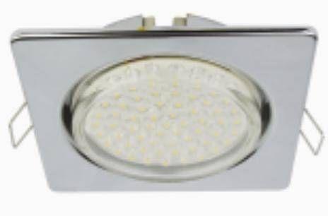 Светильник встраиваемый Ecola GX53-H4 Квадрат плоский Хром 41x106 FC53N4ECB