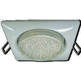 Светильник встраиваемый Ecola GX53-H4 Квадрат Белый 41x107 FW53S4ECB