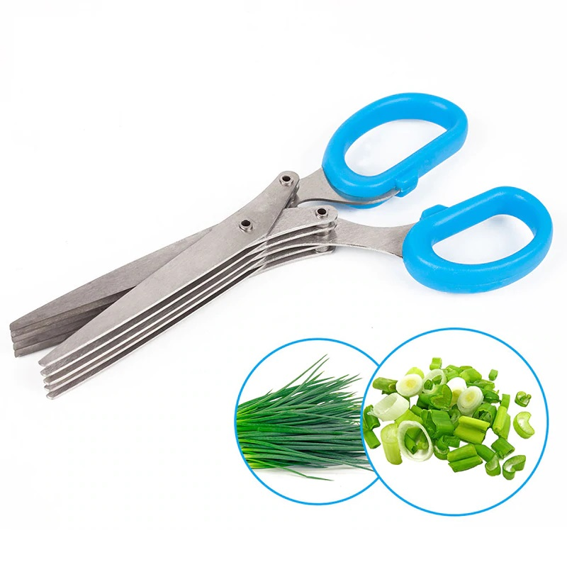 Ножницы Для Нарезки Зелени (5 Лезвий), Цвет Синий