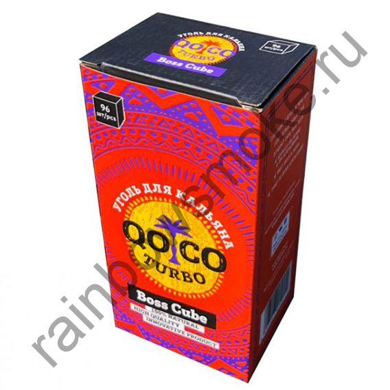 Уголь кокосовый для кальяна Qoco Turbo Boss Cube 22мм (96шт) (Коко Турбо)