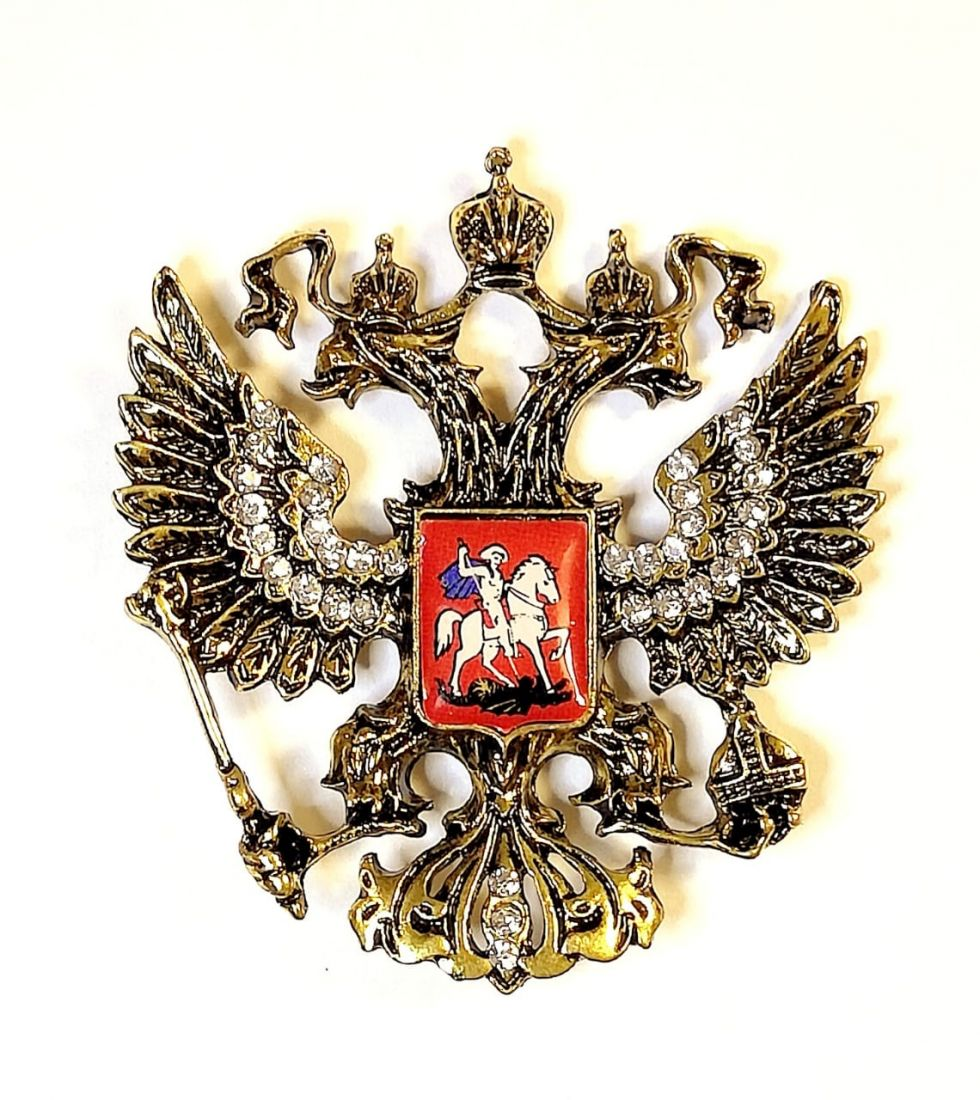 Магнит Герб России со стразами
