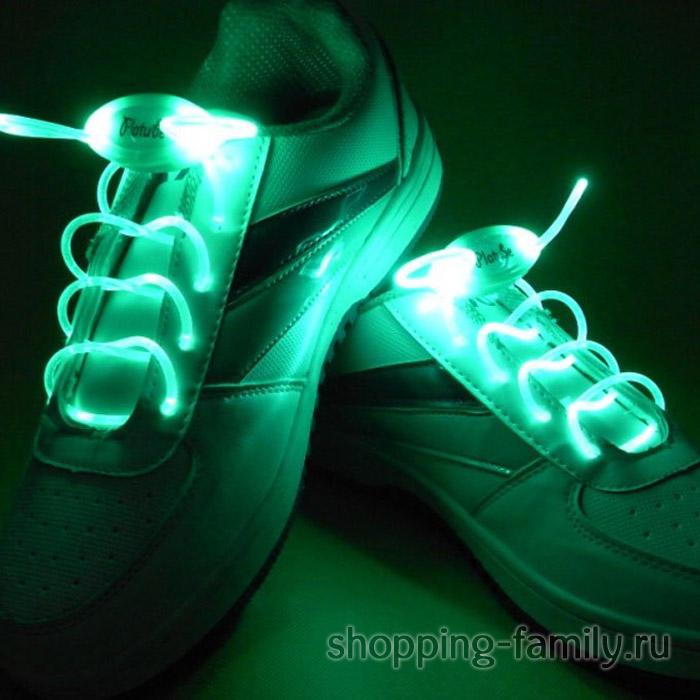Светящиеся шнурки, цвет Зеленый