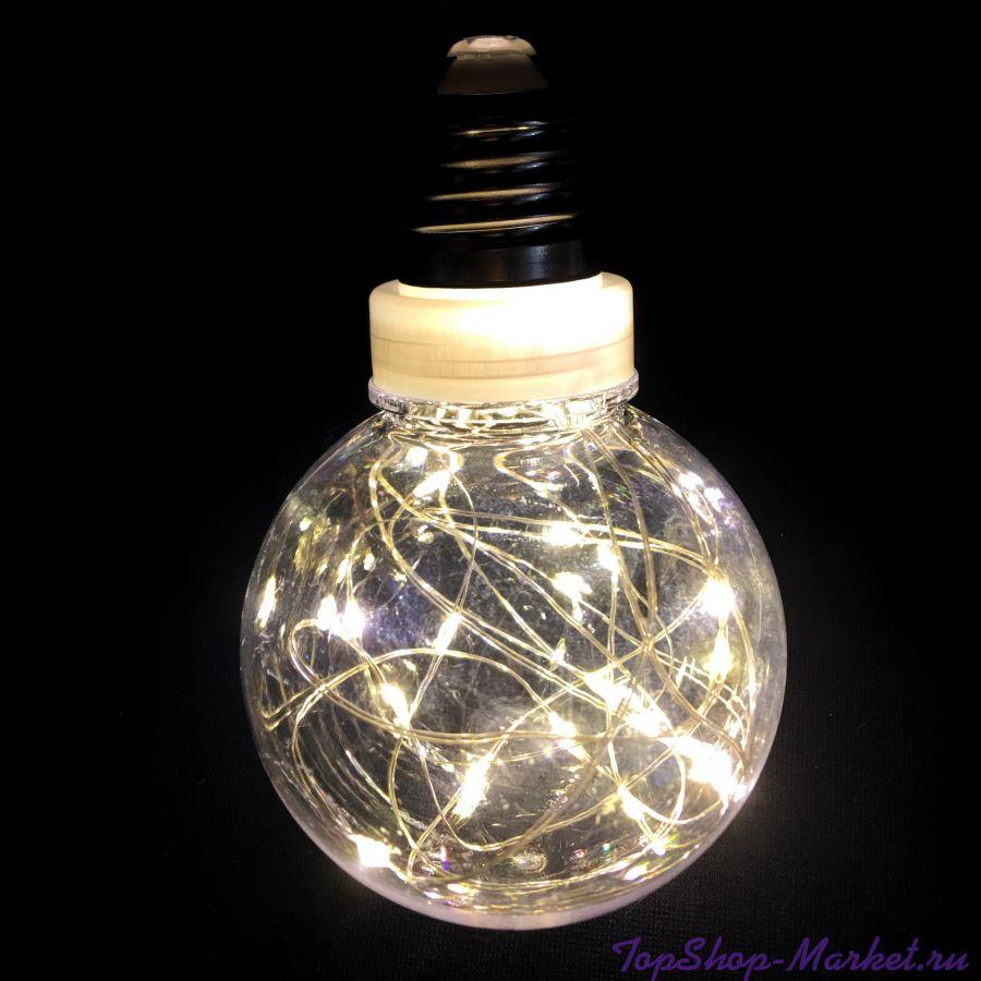 Ретро-лампа со светодиодной нитью, 8 см 1 шт, Цвет: Разноцветный