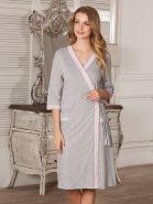 Халат Marta серый для беременных и кормящих, арт. 5803
