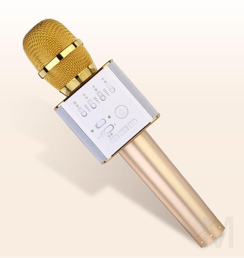 Micgeek Q9 беспроводной микрофон bluetooth для смартфонов, телефонов android и Iphone (золотой)