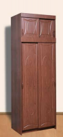 Шкаф 2-х створчатый с антресолью  ЛДСП/МДФ