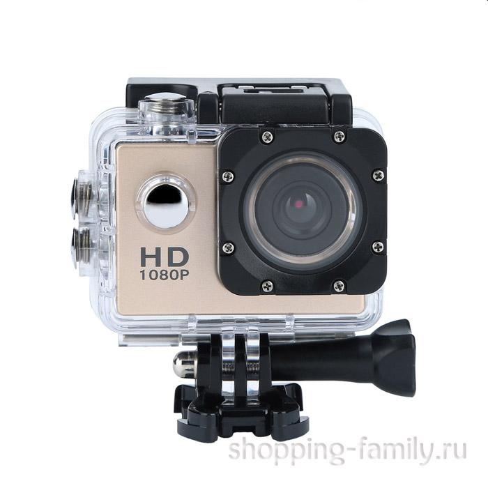 Экшн-камера Sports HD DV, цвет золото