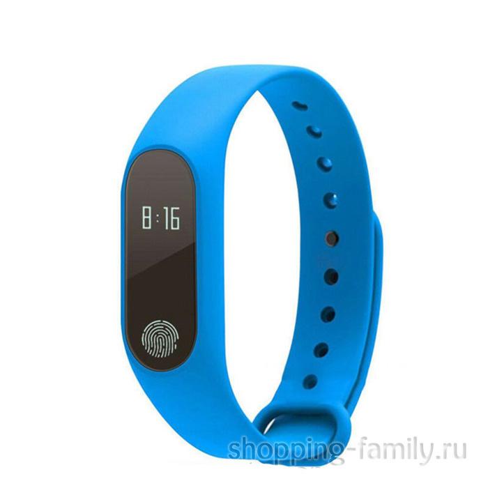 Фитнес Браслет Intelligence Health Bracelet M2, синий
