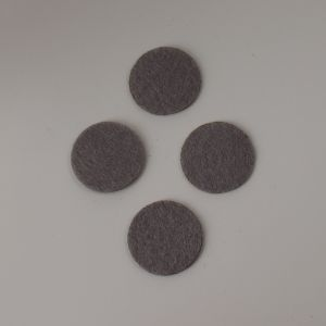 Фетровые пяточки 20мм, цвет № 57 серый