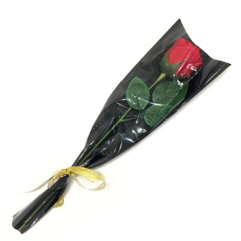 Роза из парфюмированного мыла Soap Flower, 39 см, цвет красный