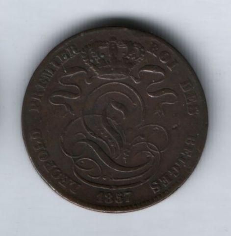 5 сантимов 1857 года Бельгия