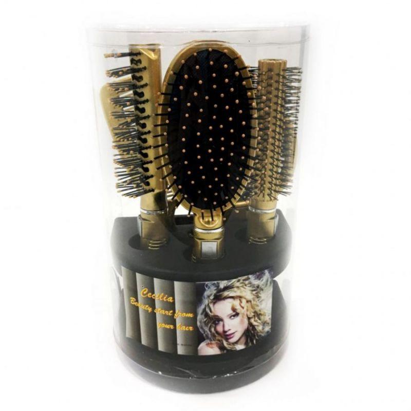 Подарочный набор расчесок для волос Cecilia, 5 шт, цвет золотой