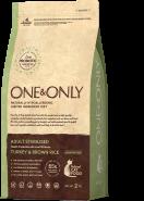 ONE&ONLY Индейка с рисом Sterilised 400г