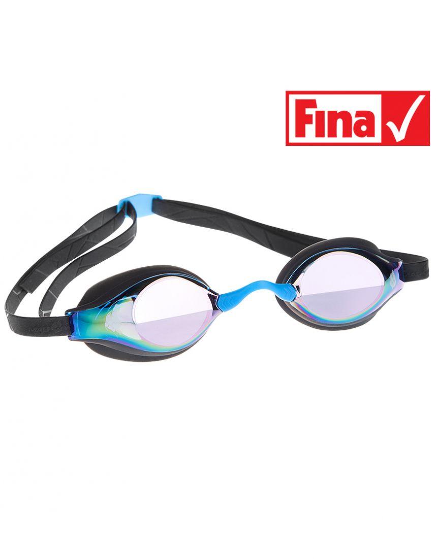 Очки для плавания стартовые Mad Wave Record breaker Rainbow