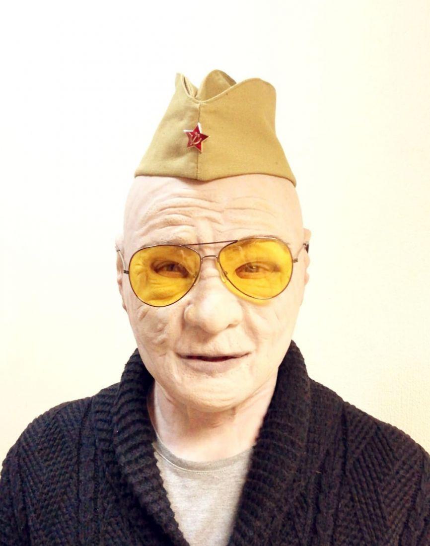 Реалистичная маска из силикона Бабка