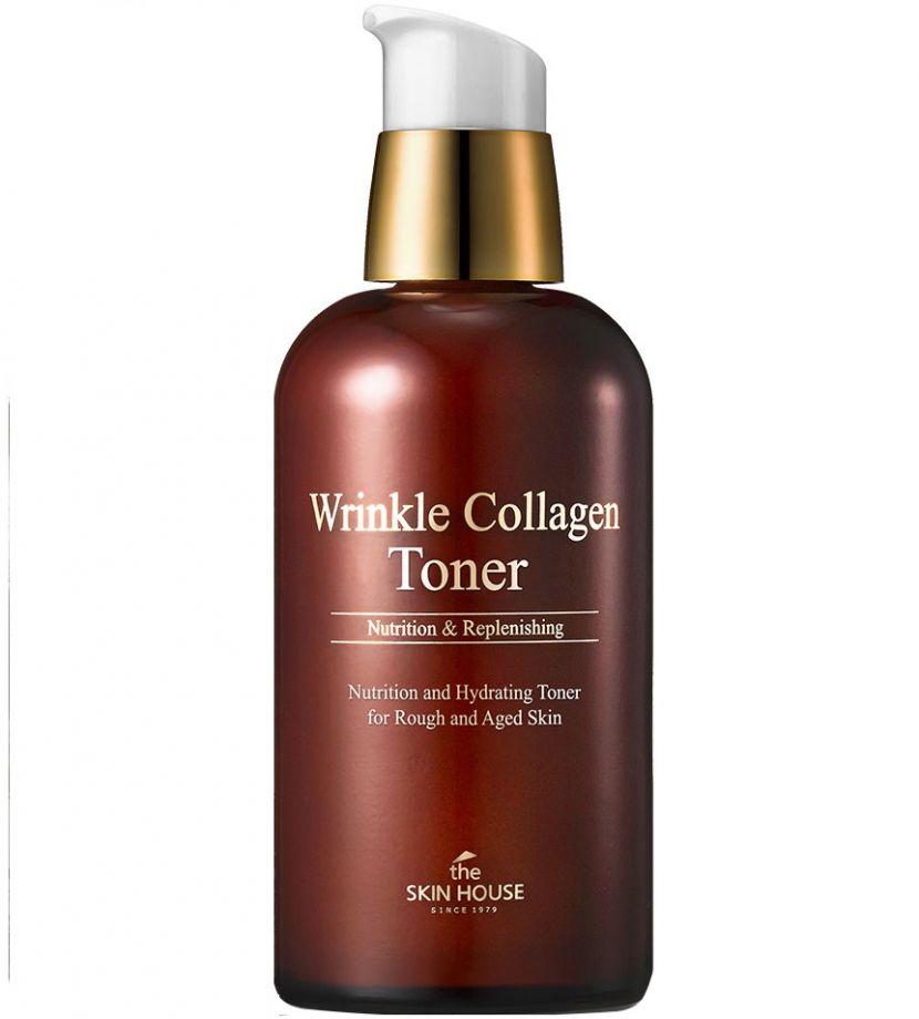 Антивозрастной тонер с коллагеном The Skin House Wrinkle Collagen Toner, 130ml