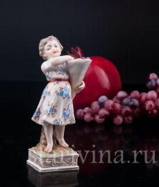 Рог изобилия, девочка с фруктами, Volkstedt, Германия, 1886-1894 гг.
