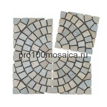 PAV-103 сланец. Брусчатка серия PAVING,  размер, мм: 500x500x10~15 (NS Mosaic)