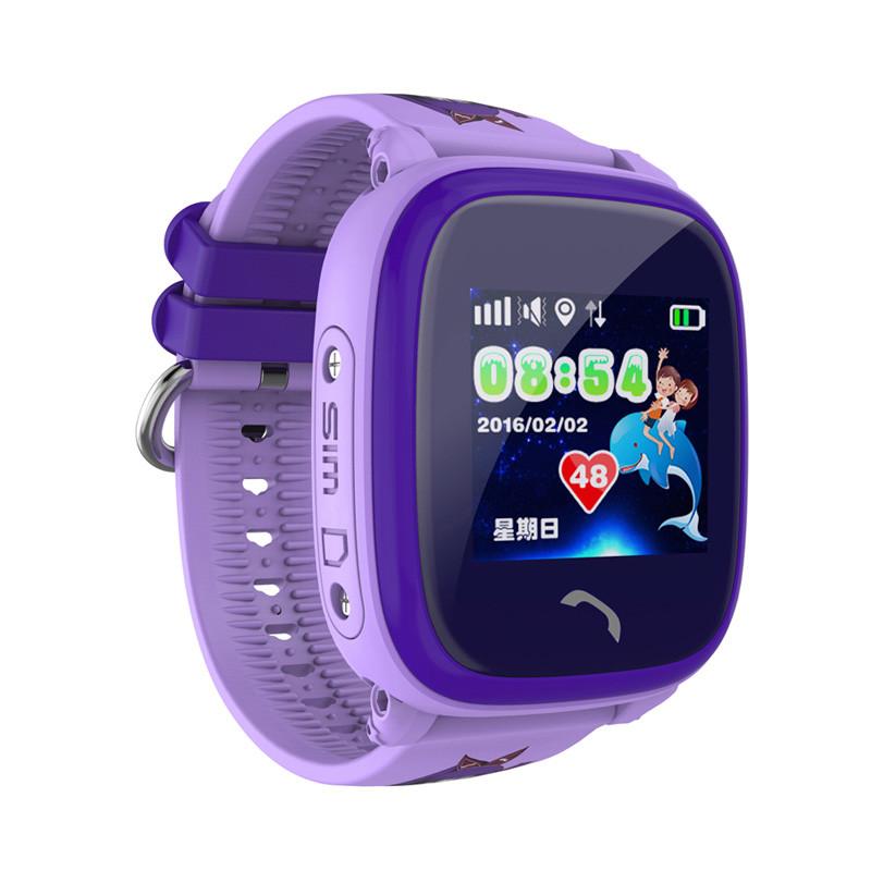 Водонепроницаемые Умные Детские Часы Smart Baby Watch DF25G (GW400S), Цвет Фиолетовый