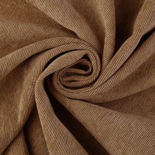 Вельвет в рубчик коричневый
