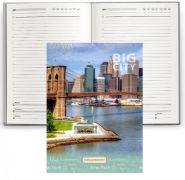 "Ежедневник ""Бруклинский мост"", А5, 136 л., интеграл цвет., мел. обл. (арт. 136-3782)"