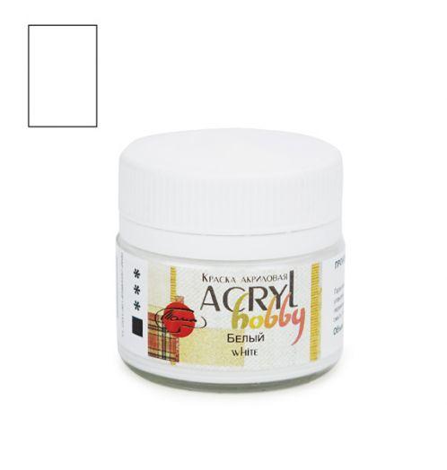Белый, акриловая краска Акрил-хобби, 20 мл