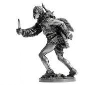 Индеец с ножом (олово)