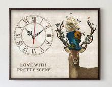 Часы с оленем
