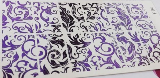 Фольгированный слайдер F 04 - Пурпурный