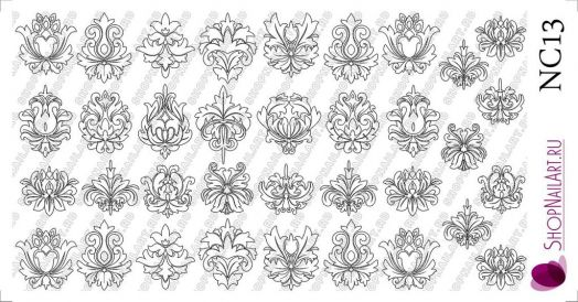 Слайдер дизайн NC13 - Трафарет, Узоры, черный