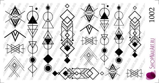 Слайдер дизайн 1002 - Геометрические символы