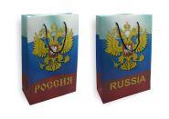 "Пакет подарочный ""Россия"", 250х380х80 мм, ручка-шнур"